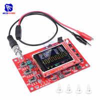 "Osciloscopio Digital diymore completamente montado SMD 2,4 ""TFT LCD 1Msps 12Bit, sonda de Chips de cocodrilo para Arduino DSO138 osciloscopio"