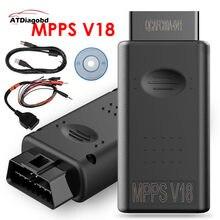 2020 MPPS V18 Ecu чип-тюнинг сканер TRICORE + многозагрузный кабель MPPS V21 .12.3.8 V16 V13 Flasher автомобильный диагностический инструмент для Edc17