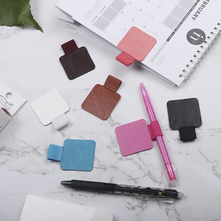 1 шт. Climemo фирменный зажим для ручек, держатель для ручек из искусственной кожи, самоклеящийся карандаш, эластичная петля для блокнотов
