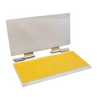 Molde de hoja de base de aluminio Beewaxs, máquina de molde para repujado de cera de abejas, tamaño de celda de impresora de 5,3mm o 4,9mm opcional