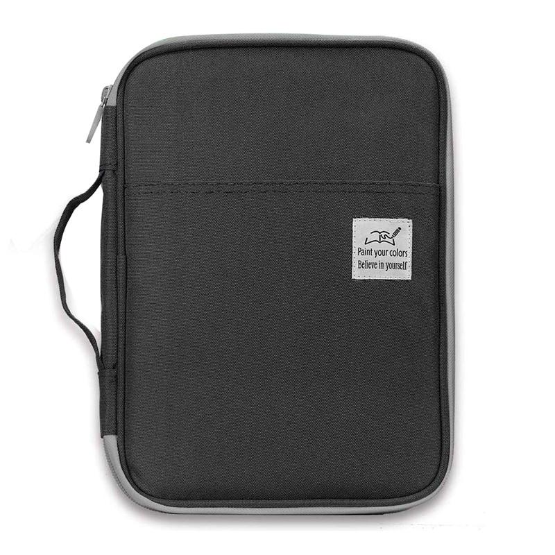 96 Slots Colored Pencil Case Large Capacity Pencil Holder Pen Organizer Bag for Artist(Black)|  - title=