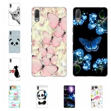 For Sony Xperia L3 Case Ultra-thin Soft TPU Silicone Cover Butterflies Patterned Shell Bag