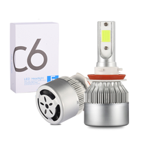 2PCS C6 H1 H3 Led Headlight Bulbs H7 Car Lights H4 880 H11 HB3 9005 HB4 9006 H13 6000K 72W 12V 8000LM Auto Headlamps