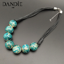 Dandie Fashionable acrylic bead necklace, splash-ink, simple female jewelry