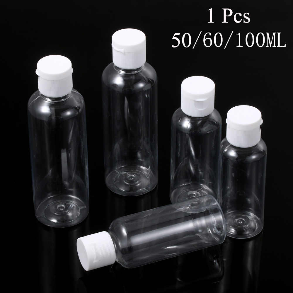 50/60/100 Ml Lege Squeeze Jar Multifunctionele Make Container Hervulbare Fles Plastic Reizen Clear Lege Bespaar Ruimte