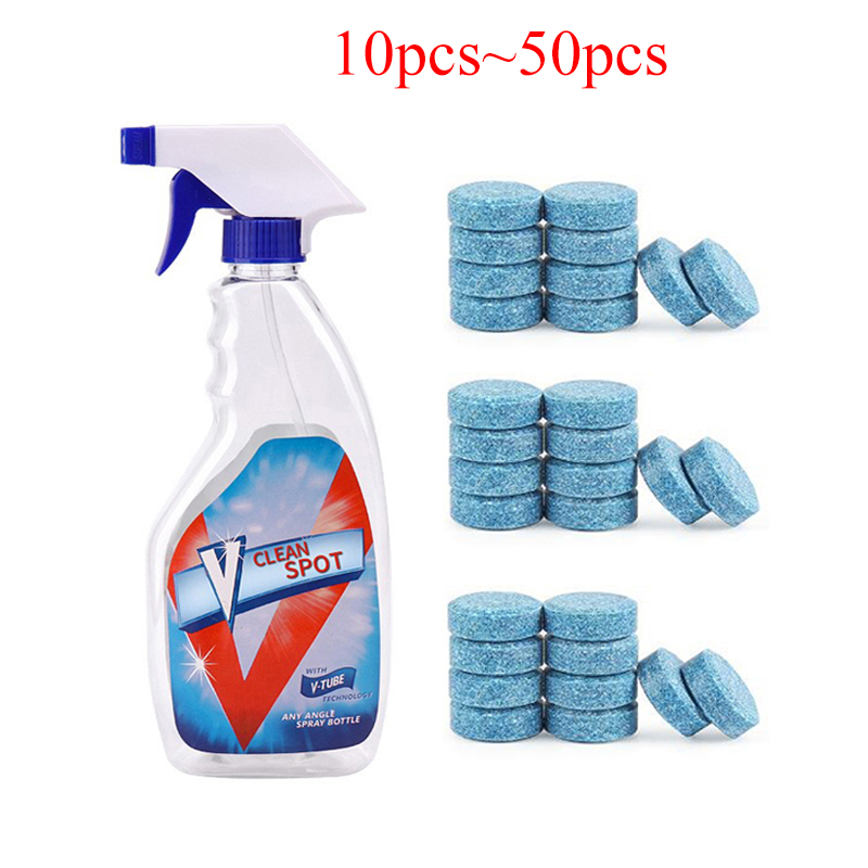 50/20/10Pcs Multifunctional Effervescent Spray Concentrate Cleaner Clean Spot Toilet Home Cleaning Tool Car Washer Tablet