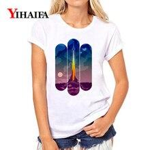 Women 3D T-shirt Colorful Geometric Printer Graphic Tee Casual Short Sleeve Summer White T Shirts O-Neck Unisex Tops стоимость