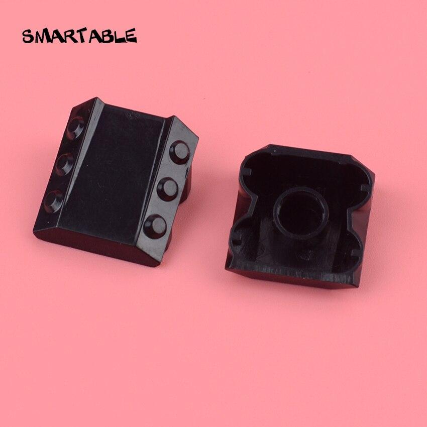 Умный наклон 1x2x2 с фланцами и поршнями строительные блоки MOC части Игрушки совместимы 30603 10 шт./лот