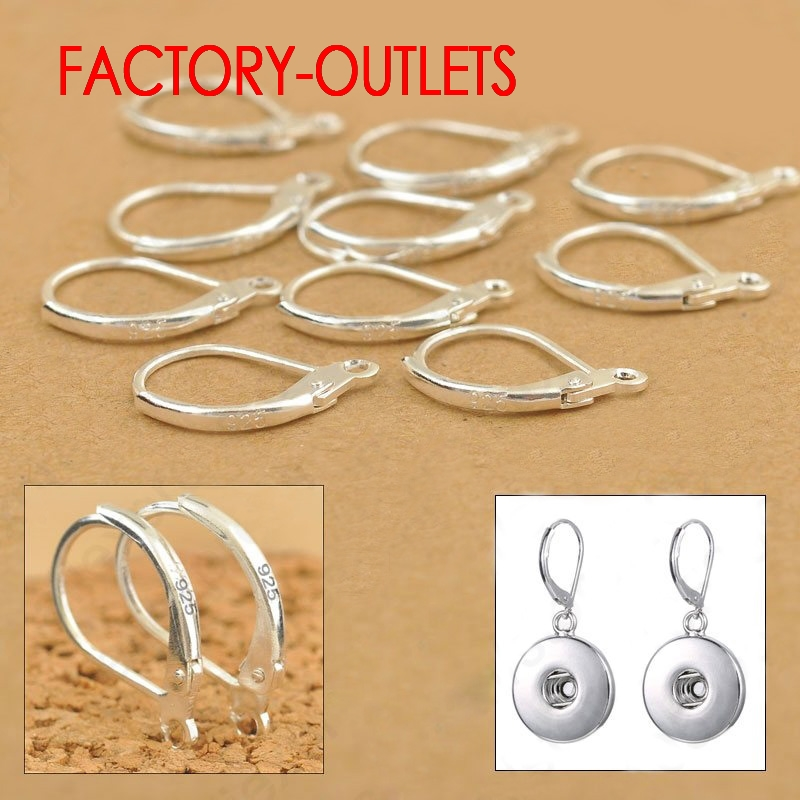 Factory Price 100PCS DIY Fashion Jewelry Components Genuine 925 Sterling Silver Earring Findings Wholesale