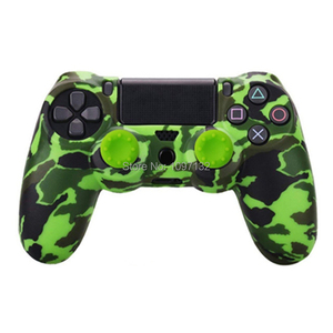 Image 5 - PS4 Camouflage Silicone Skin Protective Case чехол Cover for Sony Playstation 4 Controller for Dualshock 4 Slim Pro Gamepad