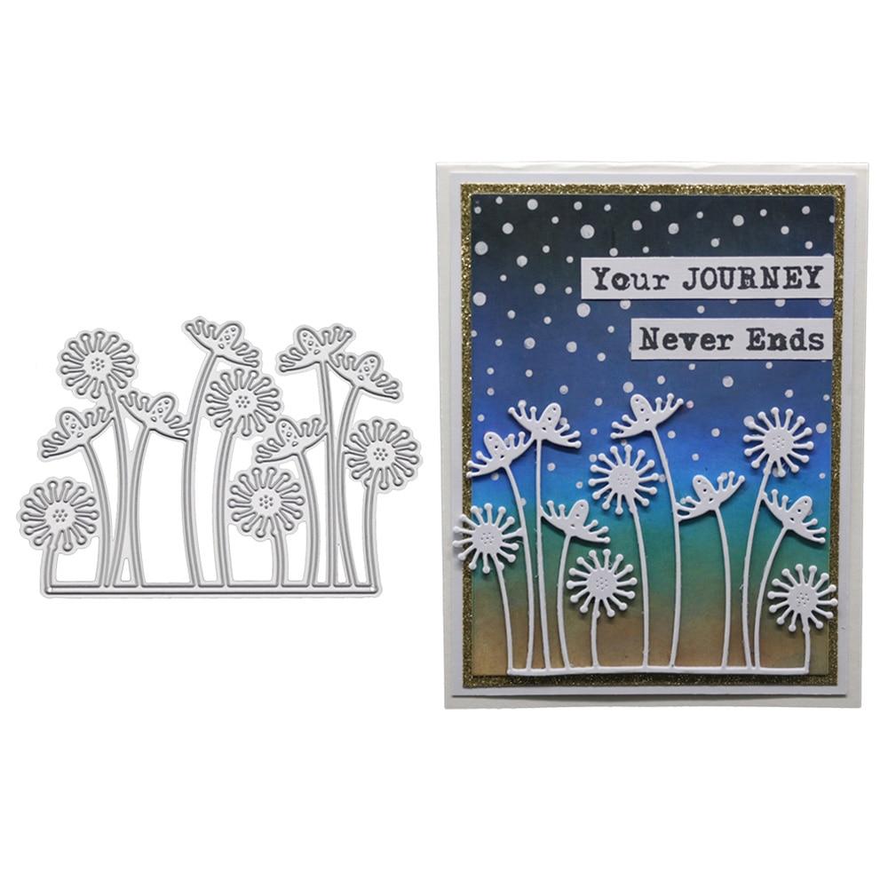 Dandelion Cutting Dies Stencil DIY Scrapbooking Album Stamp Paper Card Embossing
