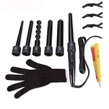 Rechangeable Heads Hair Curler Wand Professional Salon Styli