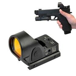 SRO Mini RMR Red Dot Sight 2.5 moa Optic Reflex Sight Scope Collimator past 20mm Weaver Rail Voor Glock hunting Rifle Airsoft