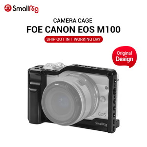 Image 1 - SmallRig M100 Camera Cage for Canon EOS M100 Camera Feature with 1/4 3/8 Thread Holes for Magic Arm Microphone DIY Options 2382