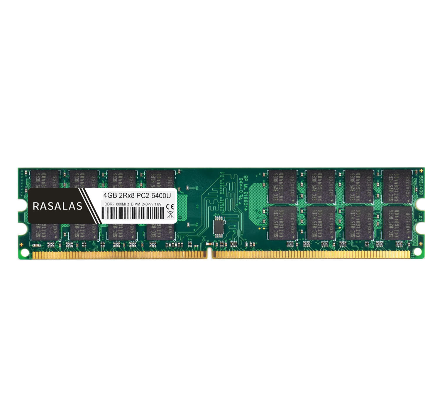 Rasalas <font><b>4GB</b></font> 2Rx8 <font><b>DDR2</b></font> <font><b>667Mhz</b></font> 800Mhz PC2-5300U PC2-6400U DIMM 1,8 V Desktop PC RAM 240Pin Memory Only For AMD CPU image
