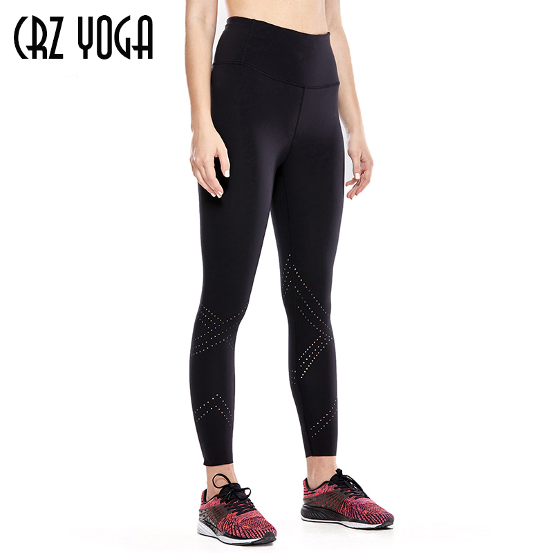 CRZ YOGA Women's Luxury High Waist Drawstring Leggings Yoga Capris with Inner Pocket-21 Inches