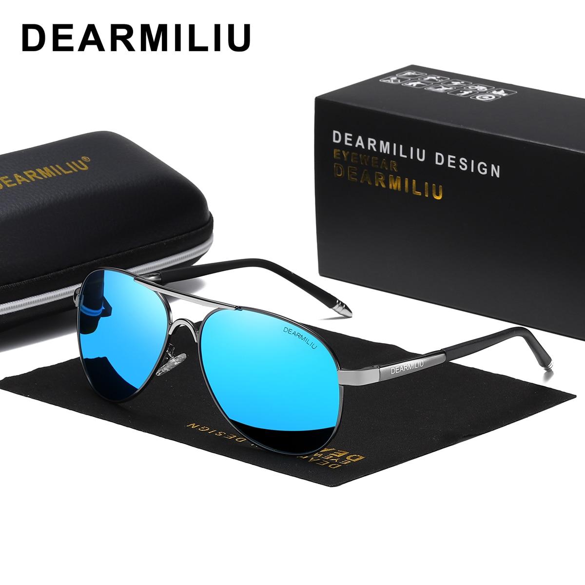 DEARMILIU Polarized UV 400 men's Sunglasses brand new male cool driving Sun Glasses driving eyewear gafas de sol shades with box