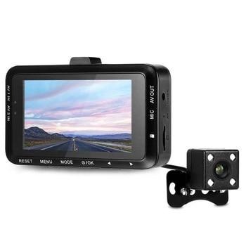 Night Vision Motorcycle Mini Driving Recorder DV168 Dual Cameras Waterproof HD Action Camera G-sensor LCD 130° Wide Angle