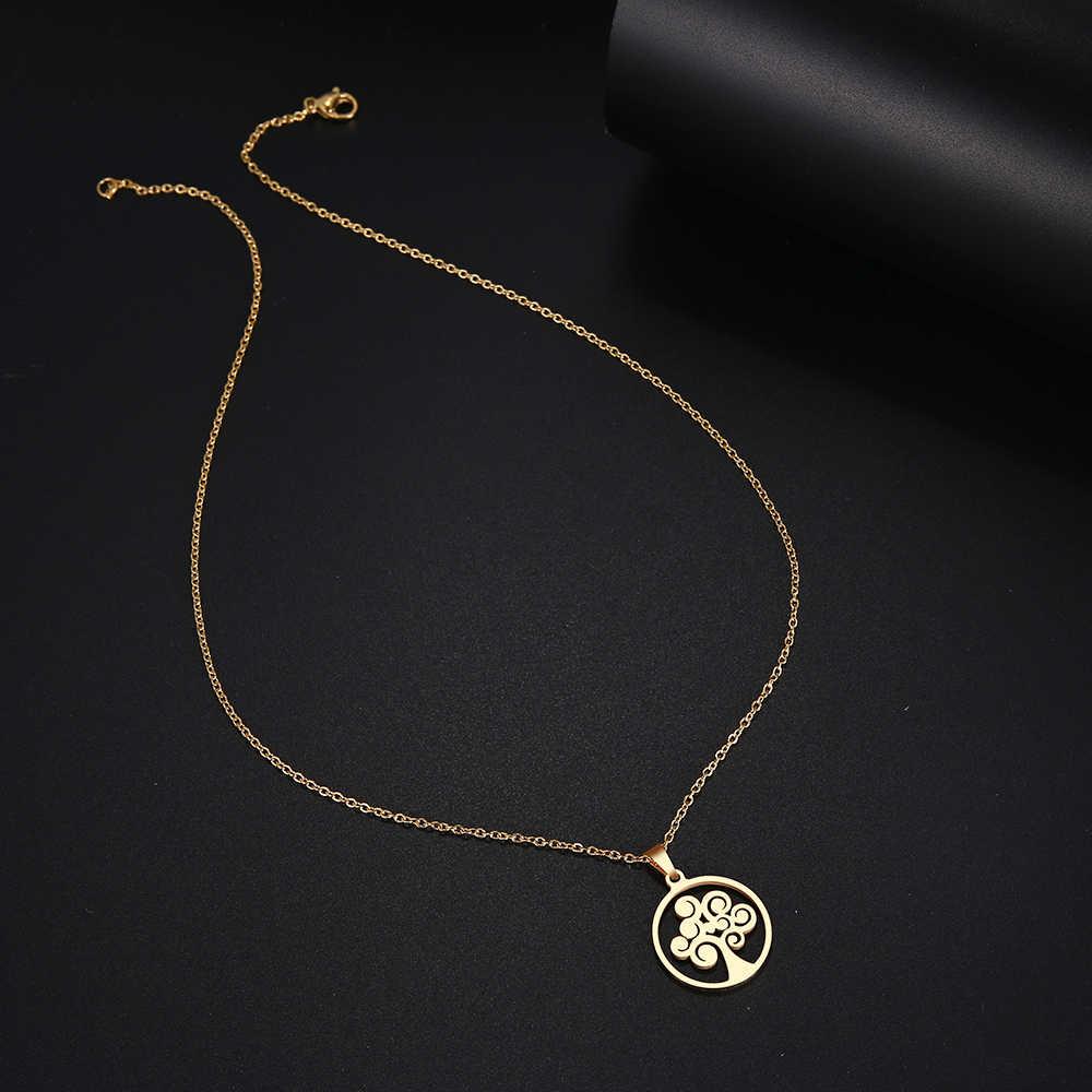 DOTIFI สร้อยคอสแตนเลสผู้หญิงต้นไม้ Choker Gold และ Silver สีจี้สร้อยคอหมั้นเครื่องประดับ