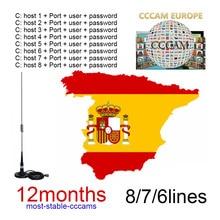 Espa A Oscam Server 1 Year Free 6/7/8 Line Europe Portugal Germany Italy Poland Spain OScam Espa A For TV Receiver cccam games campeonato de espa ol