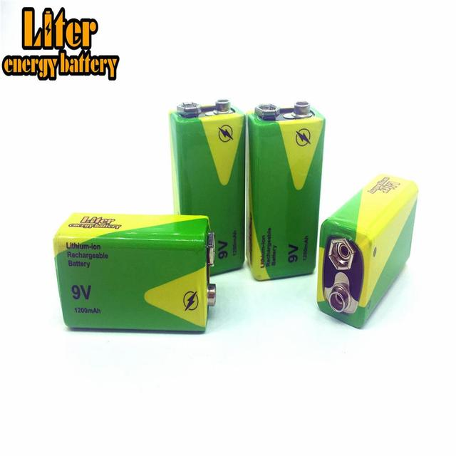 1/2/4 adet yüksek kapasiteli 1200mah 9v Volt şarj edilebilir Ni mh piller 9 Volt Nimh aletleri duman alarmı pil paketi