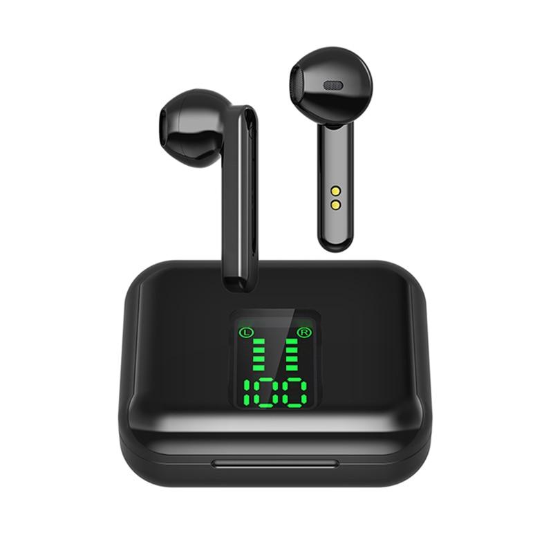 CUCA наушники-вкладыши TWS Bluetooth 5,0 наушники беспроводные наушники с микрофоном, светодиодный дисплей спортивные водонепроницаемые часы, подхо...