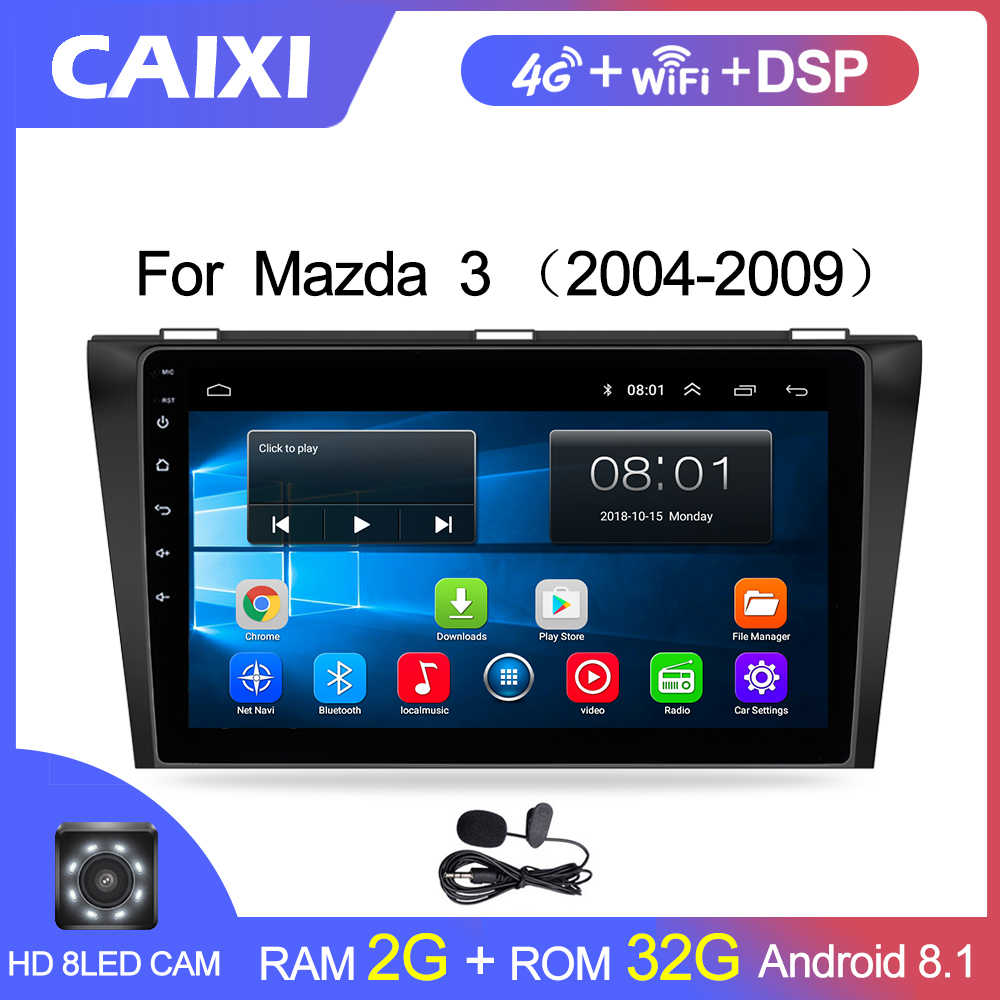 "CaiXi 9""android 8.1 car multimedia dvd radio Player For Mazda 3  2004-2013 2 din car dvd gps Navigation auto radio stereo Player"