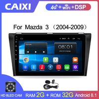 CaiXi 9android 8.1 car multimedia dvd radio Player For Mazda 3 2004 2013 2 din car dvd gps Navigation auto radio stereo Player