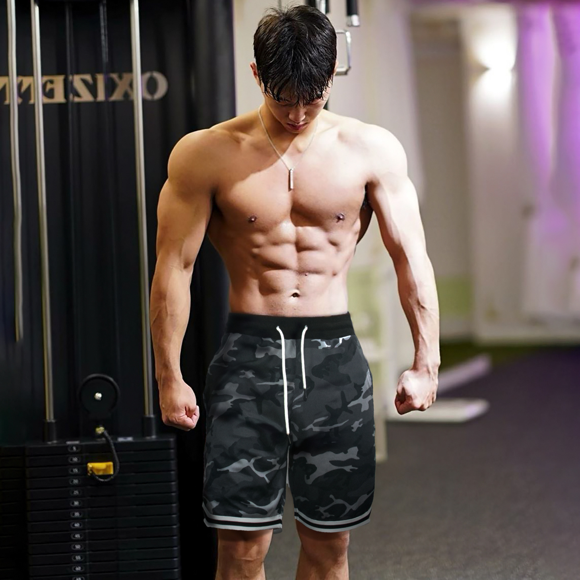 New Men Casual Cool Short Pants Men Gyms Fitness Bodybuilding Loose Shorts Male Jogger Workout Quickdry Summer Breechcloth WZFJM