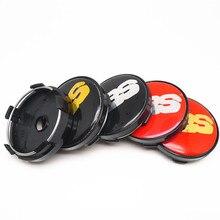 4pcs 60mm BBS Car Wheel Center Hub Emblem Badge Cap Covers Auto Styling  Accessories