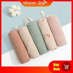 5 pçs toalha de banho do bebê facecloth toalha de algodão pano de arroto macio absorvente gaze toalha