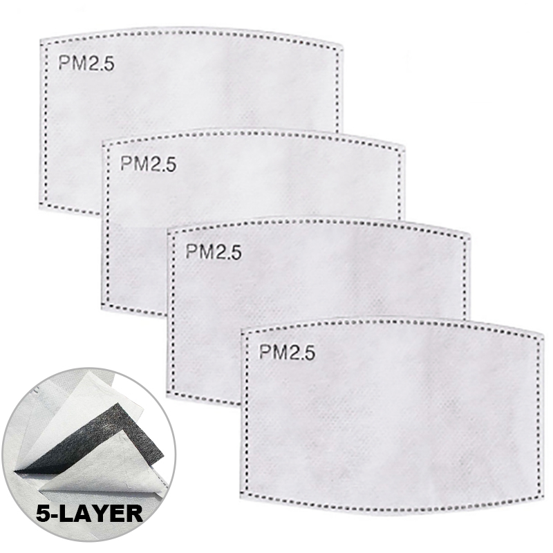 100pcs Disposable Filter Pad For Adult Face Mouth Mask PM2.5 Suitable For N95 KN95 Protective Face Masks 50/100PCS Filter Paper