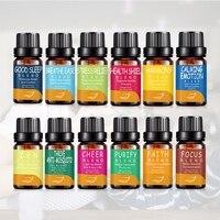 12Pcs Pure Plant Essence Aromatherapy Essential Oils Set Anti stress Aroma Diffuser Oil Use For Bath Massage Spa Skin Care