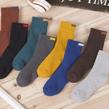 Wholesale winter new mens solid color cotton socks terry thick warm in the tube pull hair casual