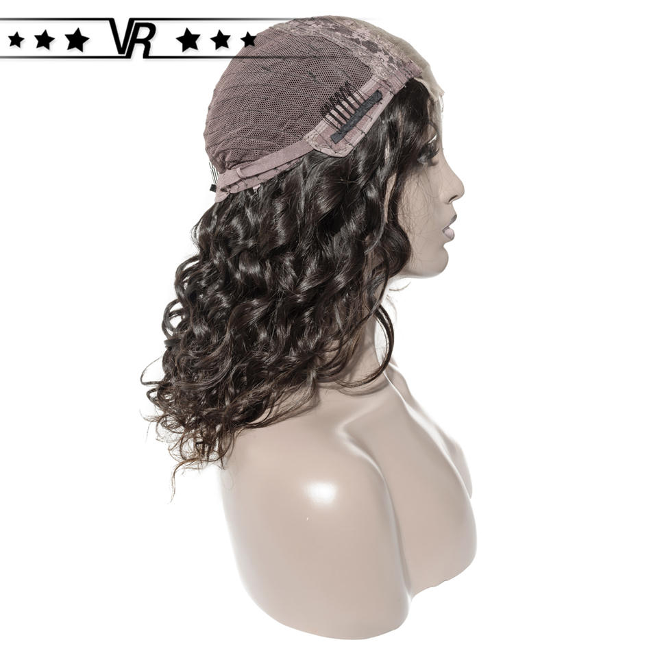 Star Quality Human Hair Lace Wig 180% Density Middle Part Natural Wave Closure Wig