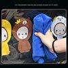 Cute Children Car Rear Seat Protector Cartoon Monkey Car Seat Back Cover Protector for Kids Baby Anti Kick Mat Pad Storage Bag discount