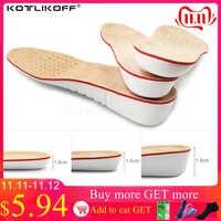 KOTLIKOFF plantilla para aumento de altura EVA plantillas de piel de porcino Gel plantillas pies planos silicona suelas Gel ortopédico zapato aumento