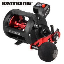 KastKing ReKon Trolling Fishing Coil Round Baitcasting Reel Graphite Body Large Line Capacity 3+1 BBS Drum Reels Fishing Coils