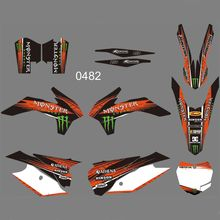 New Full Graphics Decals Stickers Custom Number Name Glossy Bright Stickers FOR KTM 125 150 200 250 300 350 450F SX XC 2013 2014 new style team graphics with matching backgrounds decals stickers for ktm exc 125 200 250 300 350 450 500 2012 2013 xc 2011