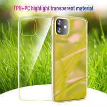Funda de teléfono para iphone 11 max XS XR funda para iphone 7X8 funda protectora de silicona TPU suave transparente funda elegante para iphone 6(China)