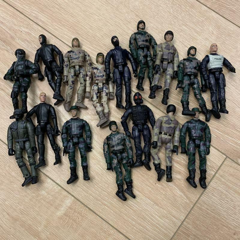 "3.75/"" Gi Joe  Lanard Soldier with 5pcs accessories 1pcs random Figure Toy"