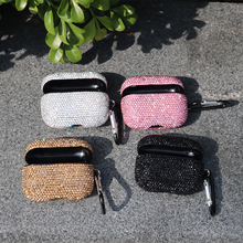 new arrival crystal diamond glitter shiny sparkling bluetooth wireless earphone cover for apple airpods pro 3 generation case