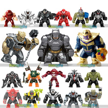 34PCS LegoING Avengers 4 Endgame Marvel Single Model Figures Building BLocks Animal Thanos Hulk Ironman Panther Kids Toys Gift