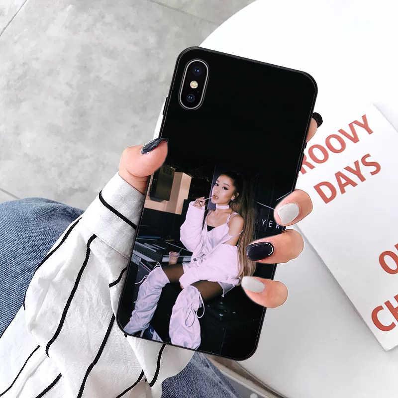 Ariana grande colorido bonito telefone acessórios estojo para iphone 5 5sx 6 7plus 8 8 plus x xs max xr 11pro max
