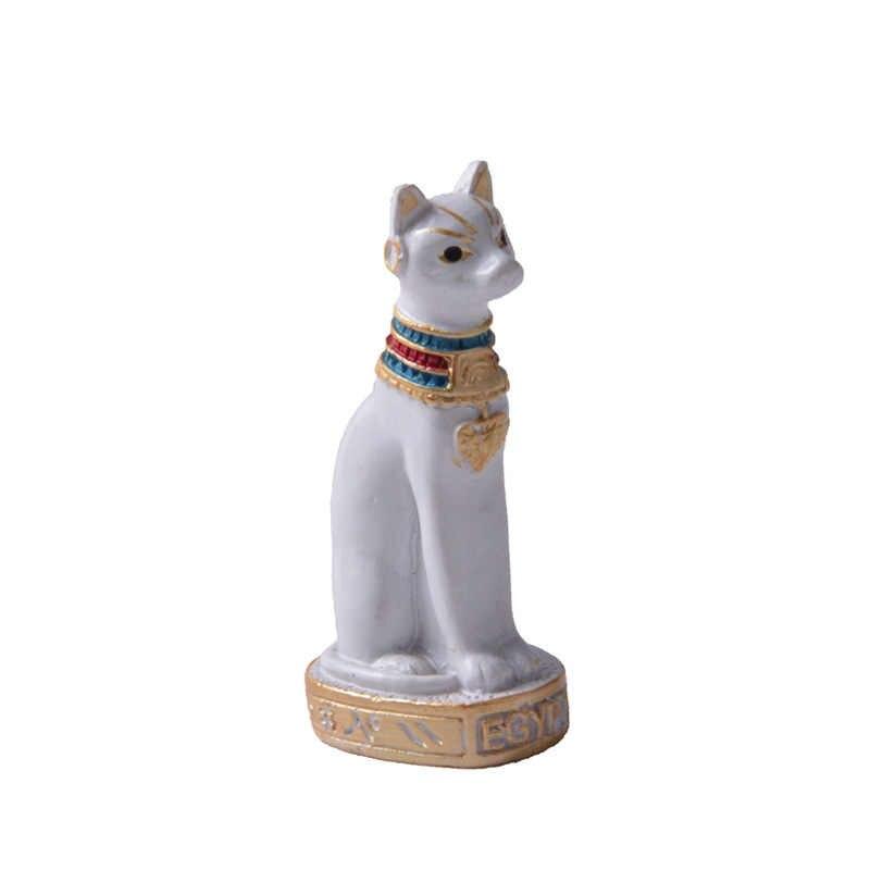 Gatto egiziano Figurine Statua Della Decorazione Dell'annata del Gatto Dea Bastet Statua Regalo di Casa Giardino FAI DA TE Decor