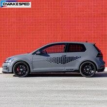 1 Set Auto Aufkleber Körper Tür Seite Rock Vinyl Aufkleber Für Volkswagen Golf 4 5 6 7 TSI TCR Polo racing Aufkleber Auto Zubehör