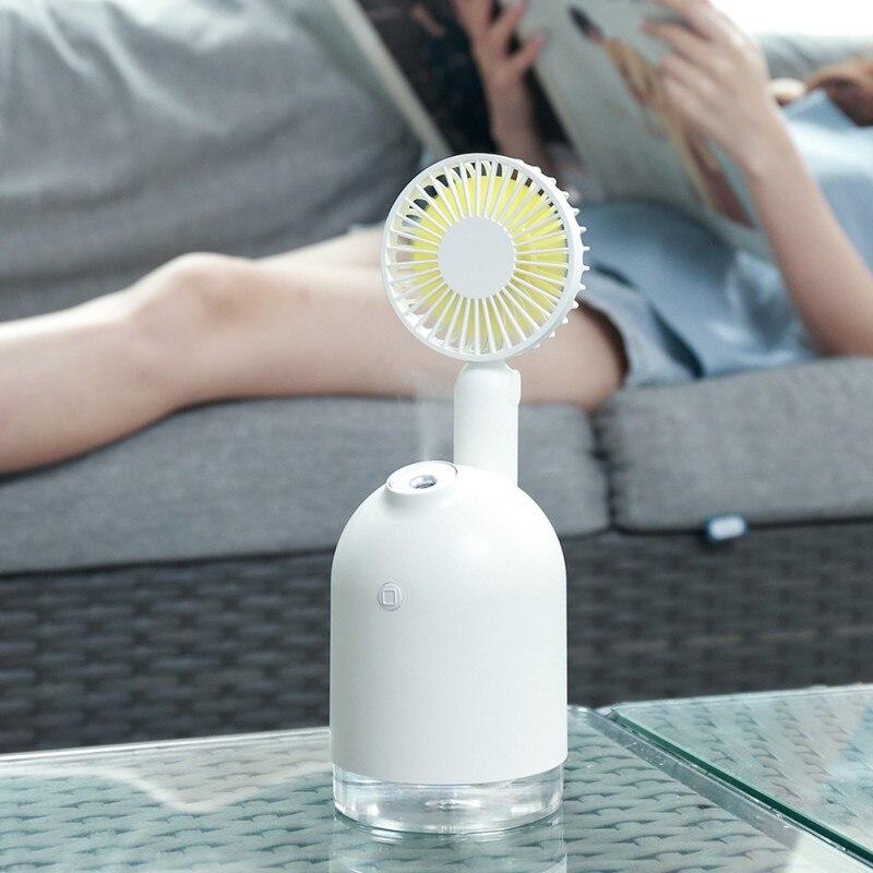 Portable USB Fan Flexible With Air Diffuser Adjustable Cooler Mini Fan Handy Desk Desktop USB Cooling Mist Fan Humidifier