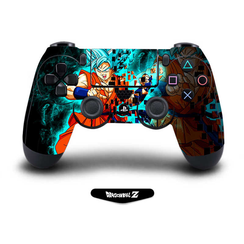 Dragon Ball Skin Protective Cover Sticker For Playstation 4 PS4 Pro Slim Controller Sticker Accessories with Litght Bar Decal