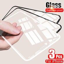 3Pcs Gehärtetem Glas Für iPhone 11 Pro 12 Mini X XR XS Max Schutz Glas Für iPhone 7 11 6 6S 8 Plus SE 2020 Screen Protector