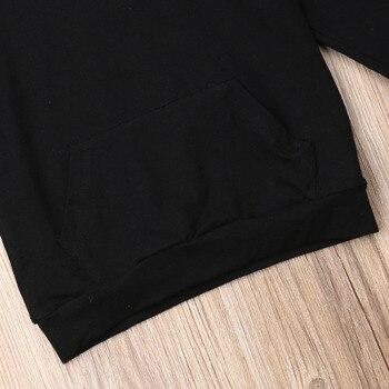 1-6Y Kids Baby Boy Girl Long Sleeve Back Letter Print Hooded Sweatshirt Hoodies Tops Autumn Clothes 4